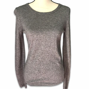 J. Crew Factory charcoal gray wool blend sweater